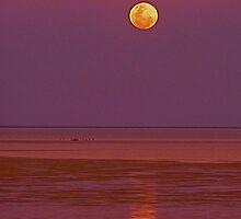 Cable Beach Broome Moonrise by kaydeevanton
