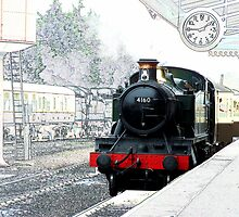Steam Train at Minehead Station by hootonles