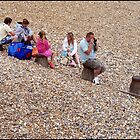 Family Fun On Eastbourne Beach by Jazzdenski