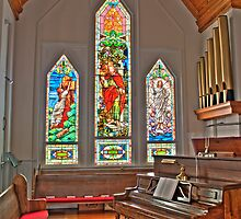 HDR - SMLC - Organ and Stained Glass by Doug Greenwald