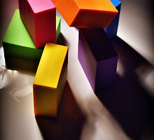COLORED BLOCKS AND SHADOWS STILL LIFE by NawfalNur
