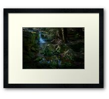 A Little Creek With A Bit of a Waterfall Framed Print