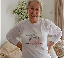 Beautiful lady! Beautiful T-shirt! by Maree Clarkson