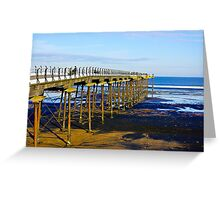 All Alone on the Pier Greeting Card