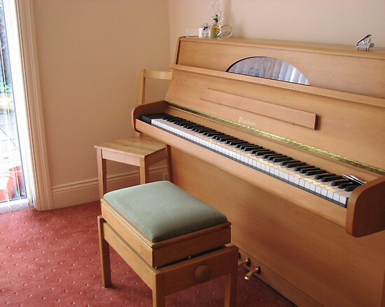 Piano Awaits Pupil and Teacher by BlueMoonRose