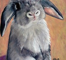"Gus - 9"" x 12"" Prismacolor on Stonehenge. Female Mini Lop Rabbit. by Laura Bell"