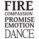 FIRE COMPASSION PROMISE by Melissa Park