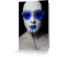 She's turning Blue Greeting Card
