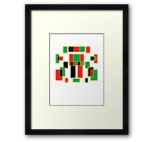 red, green, yellow & black Framed Print