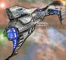 nuba-escape-cruiser by Kevin McDowell