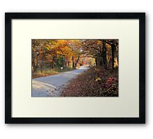 Country Fall Road Framed Print