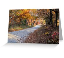 Country Fall Road Greeting Card