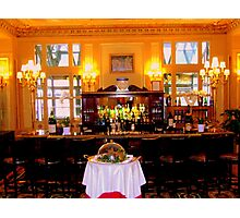 The bar in La Cafe de la Paix Photographic Print