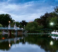 The Public Garden Duck Pond Near Sunset by hawkeye978