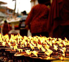 Butter Candles, Boddah - Kathmandu by sashasweeney