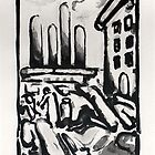 Christ au Faubourg (Christ in Faubourg) from Passion, 1935  by Georges Rouault by masterworks