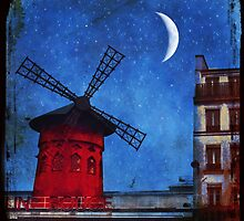 Moulin Rouge Bleu by dawne polis
