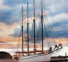 margaret todd schooner at sunrise by bettywiley
