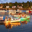 coastal harbor in Maine by bettywiley