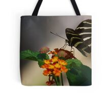 Zebra Longwing Butterfly Profile Tote Bag