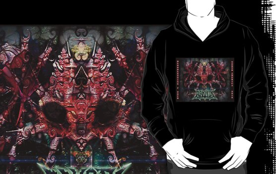 Arkaik Tour Hoodie ~ Bloodletting Tour 2010 by Rhonda Strickland