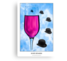 Cocktails with Magritte - Titled Print Canvas Print