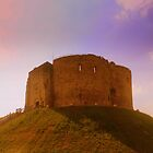 Clifford's Tower, York Castle Keep, England by Chris Millar