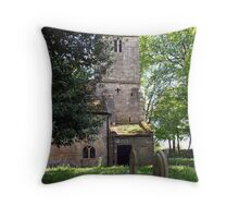Kirk Bramwith Church in Spring Throw Pillow