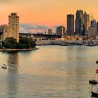 Berry&#x27;s Bay Sunset - Berrys Bay, Sydney Harbour (40 Exposure HDR Panorama) - The HDR Experience by Philip Johnson