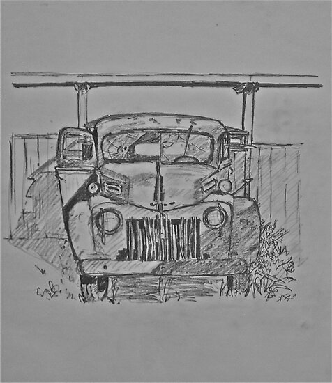 u0026quot drawing ford truck 1941 half moon bay u0026quot  by rose robin