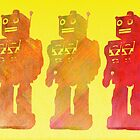Robot trio by Emma Harckham