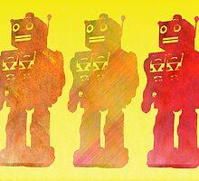 Robot trio by puppaluppa