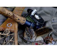 Lil' Fishing Buddy  Photographic Print
