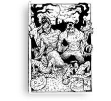 Misfits Comic-book Style Canvas Print