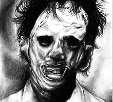 Leatherface Portrait by Psychoskin