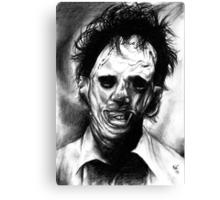 Leatherface Portrait Canvas Print