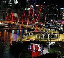 Kurilpa Pedestrian Bridge. Brisbane, Queensland, Australia by Ralph de Zilva