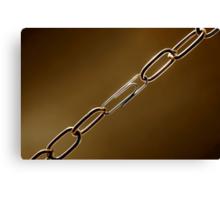 Weak Chain Canvas Print