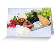 Fruit & Cheese Platter Greeting Card
