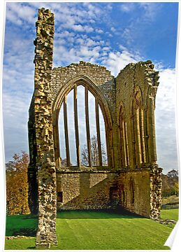 Egglestone Abbey Ruins - Co Durham by Trevor Kersley