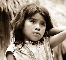 Indian girl in the Colombian jungle by Alexander Kok