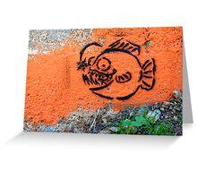 Big Fish, Little World Greeting Card