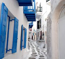 Blue Shutter Alley by CiaoBella