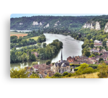 Le Petit-Andely and The Seine Banks Canvas Print