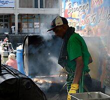 Oil drum cooking by buttonpresser