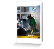 Oil drum cooking Greeting Card