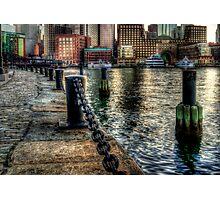 Boston Harbor walk  Photographic Print