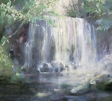 「涼」..ryou.. Waterfall by vasenoir