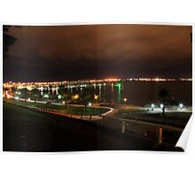 Corio bay by night  Poster