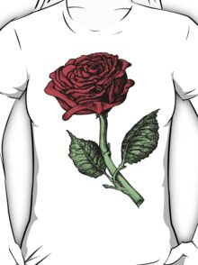 Single Red Rose T-Shirt